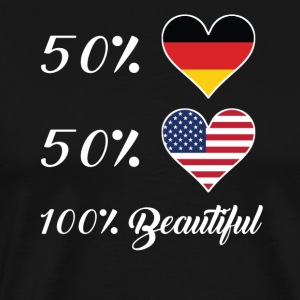 50% German 50% American 100% Beautiful - Men's Premium T-Shirt
