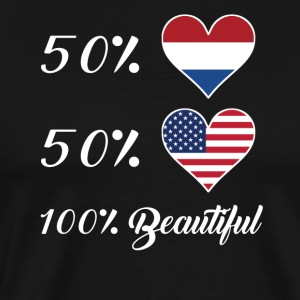 50% Dutch 50% American 100% Beautiful - Men's Premium T-Shirt