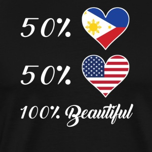 50% Filipino 50% American 100% Beautiful - Men's Premium T-Shirt