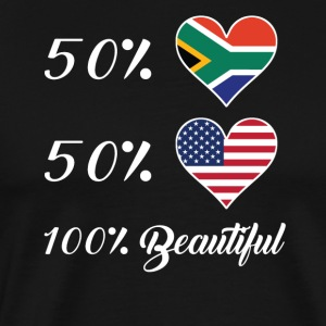 50% South African 50% American 100% Beautiful - Men's Premium T-Shirt
