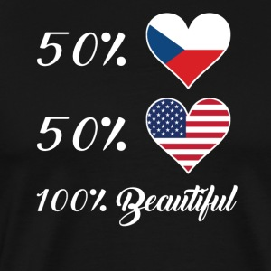 50% Czech 50% American 100% Beautiful - Men's Premium T-Shirt