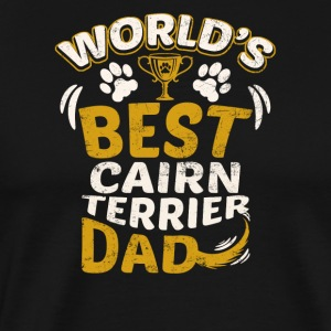 World's Best Cairn Terrier Dad - Men's Premium T-Shirt