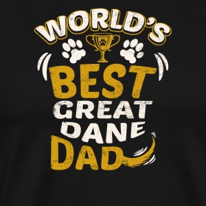 World's Best Great Dane Dad - Men's Premium T-Shirt