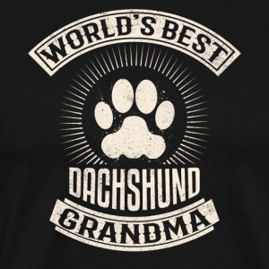 World's Best Dachshund Grandma - Men's Premium T-Shirt