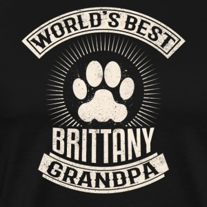 World's Best Brittany Grandpa - Men's Premium T-Shirt