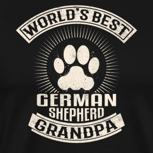 World's Best German Shepherd Grandpa - Men's Premium T-Shirt