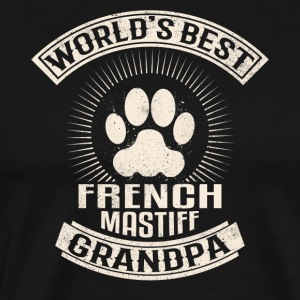 World's Best French Mastiff Grandpa - Men's Premium T-Shirt