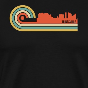 Retro Style Huntsville Alabama Skyline - Men's Premium T-Shirt