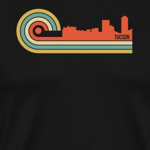 Retro Style Tucson Arizona Skyline - Men's Premium T-Shirt