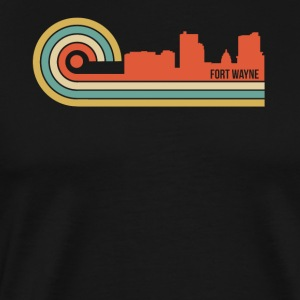 Retro Style Fort Wayne Indiana Skyline - Men's Premium T-Shirt