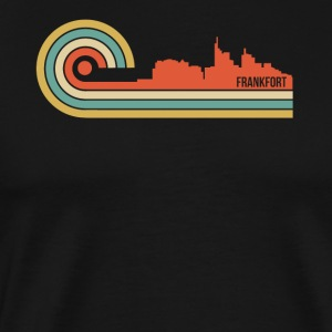 Retro Style Frankfort Kentucky Skyline - Men's Premium T-Shirt
