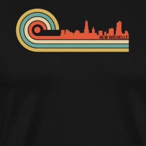 Retro Style New Rochelle New York Skyline - Men's Premium T-Shirt