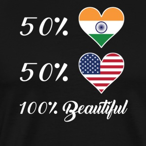 50% Indian 50% American 100% Beautiful - Men's Premium T-Shirt