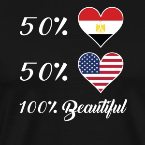 50% Egyptian 50% American 100% Beautiful - Men's Premium T-Shirt