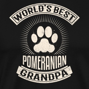 World's Best Pomeranian Grandpa - Men's Premium T-Shirt