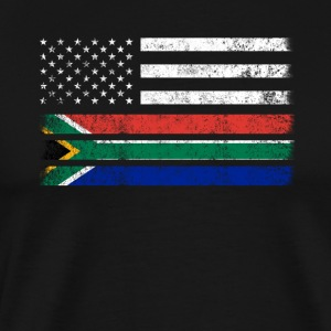 South African American Flag - USA South Africa Shi - Men's Premium T-Shirt
