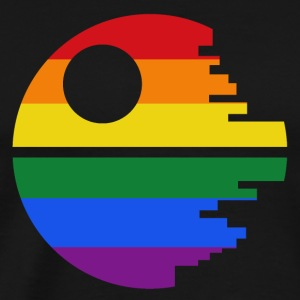Rainbow Death Star - Men's Premium T-Shirt