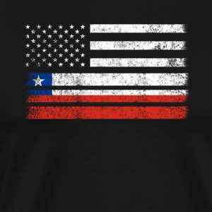 Chilean American Flag - USA Chile Shirt - Men's Premium T-Shirt