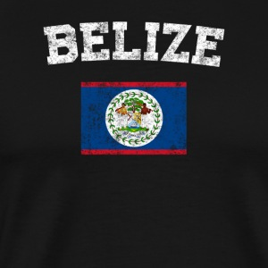 Belizean Flag Shirt - Vintage Belize T-Shirt - Men's Premium T-Shirt