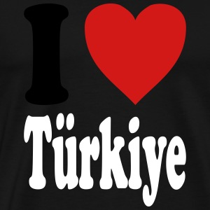 I love Tuerkiye / Turkey (variable colors!) - Men's Premium T-Shirt
