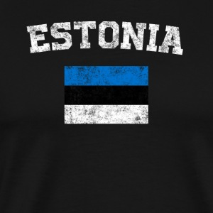 Estonian Flag Shirt - Vintage Estonia T-Shirt - Men's Premium T-Shirt
