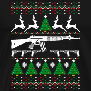 AR 15 Ugly Christmas Sweater - Men's Premium T-Shirt