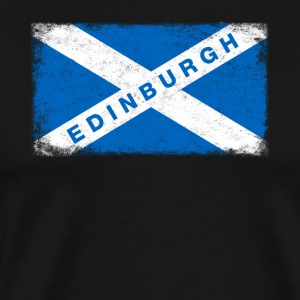 Edinburgh Shirt Vintage Scotland Flag T-Shirt - Men's Premium T-Shirt