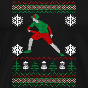 Disc Golf Ugly Christmas Xmas Sweater - Men's Premium T-Shirt