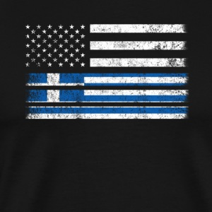 Greek American Flag - USA Greece Shirt - Men's Premium T-Shirt