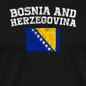 Bosnian, Herzegovinian Flag Shirt - Vintage Bosnia - Men's Premium T-Shirt