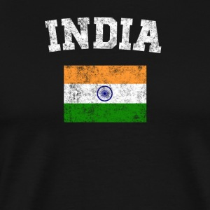 Indian Flag Shirt - Vintage India T-Shirt - Men's Premium T-Shirt