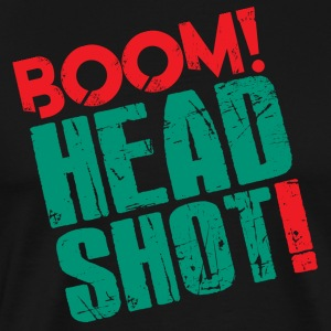 Boom Headshot! Red/Blue - Men's Premium T-Shirt
