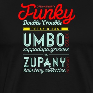 Open air party funky double trouble - Men's Premium T-Shirt