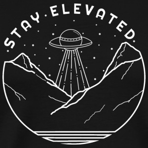 Aliens Stay Elevated (White) - Men's Premium T-Shirt