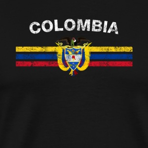 Colombian Flag Shirt - Colombian Emblem & Colombia - Men's Premium T-Shirt