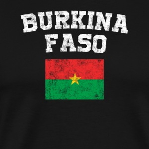 Burkinabe Flag Shirt - Vintage Burkina Faso T-Shir - Men's Premium T-Shirt