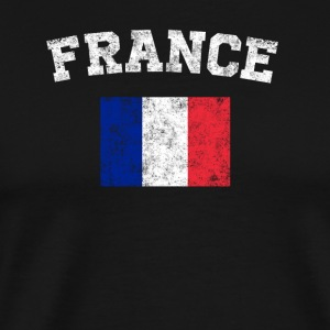 French Flag Shirt - Vintage France T-Shirt - Men's Premium T-Shirt