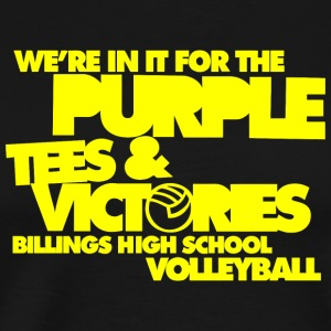 We're In It For The Purple Tees & Victories Billin - Men's Premium T-Shirt