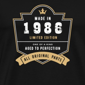 Made In 1986 Limited Edition All Original Parts - Men's Premium T-Shirt