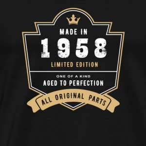 Made In 1958 Limited Edition All Original Parts - Men's Premium T-Shirt