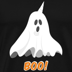 Unicorn Boo Ghost - T Shirt - Men's Premium T-Shirt