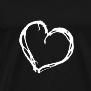 white heart - Men's Premium T-Shirt