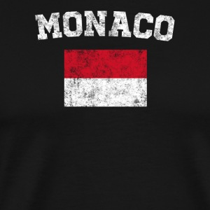 Monegasque Flag Shirt - Vintage Monaco T-Shirt - Men's Premium T-Shirt