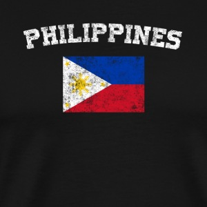 Filipino Flag Shirt - Vintage Philippines T-Shirt - Men's Premium T-Shirt