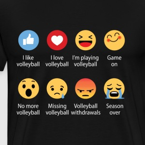 Volleyball emojication funny - Men's Premium T-Shirt