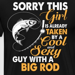 Cool Guy With A Big Rod T Shirt - Men's Premium T-Shirt