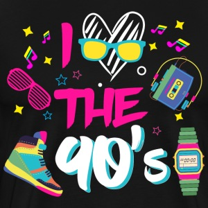 I love the 90s/Retro/Oldschool/90's/Nineties/Lover - Men's Premium T-Shirt