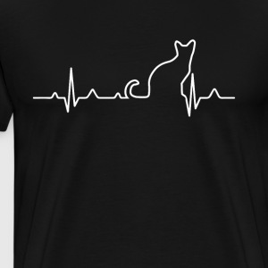 Cat Hearbeat - Men's Premium T-Shirt