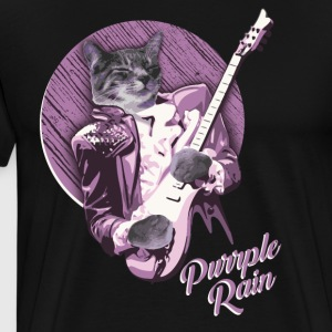 PURRPLE RAIN by PRRINCE THE CAT - Men's Premium T-Shirt