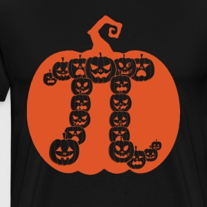 Pumpkin Pi Shirt Funny Halloween Math - Men's Premium T-Shirt